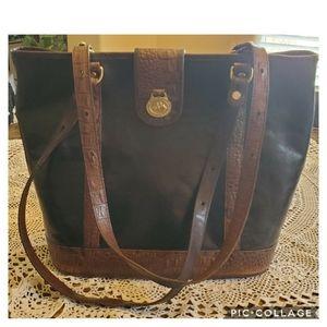 Black and Brown Brahman Vintage Bag